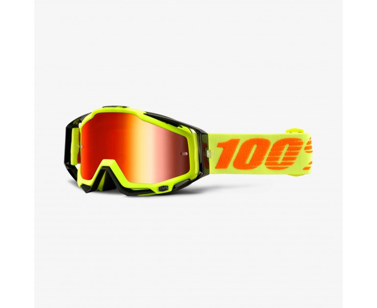 Kính 100% RaceCraft Goggle Attack Yellow - Mirror Red Lens