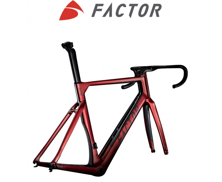 Sườn Cũ Factor ONE V2 Crimson Red frameset